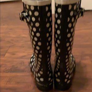 Nomad Footwear Shoes - NOMAD Black & White Polka Dot Rain Boots